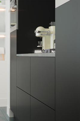 Tip-on Keuken Matt Black - Modern - Carbon
