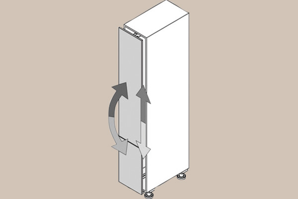 Adjustment swivelling pull out larder