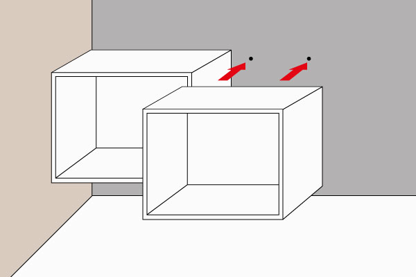 Fitting instructions for suspended base units