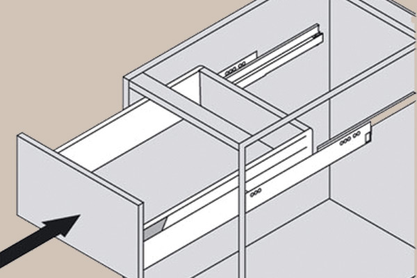Fix and dismantle pan drawers