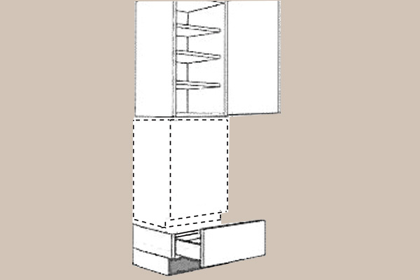 Fitting instruction dishwasher with tall unit (grid 130)