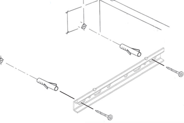 Fitting instrucions for hanging rail wall units